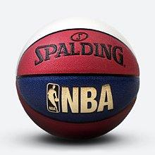 NBA红白蓝拼色花球室内外PU篮球74-655Y
