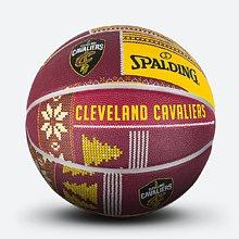 NBA骑士队圣诞系列黄/蓝橡胶篮球83-654y