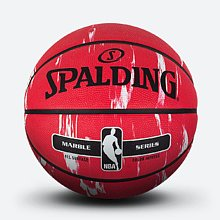大理石红/白印花系列 橡胶篮球83-634y