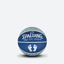 SPALDING官方旗舰店儿童球男孩1号橡胶篮球65-892Y 65-892y