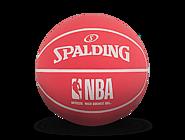 NBA红/蓝撞色高弹橡胶迷你篮球51-293Y
