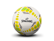 斯伯丁SPARKLE系列5号室内外黄绿色PU足球