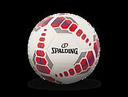 斯伯丁SPARKLE系列5号室内外红蓝色PU足球