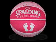 SPALDING官方旗舰店儿童球女孩1号橡胶篮球65-891Y 65-891y