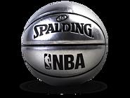 NBA银色镜面PU纪念礼物PU篮球1号球