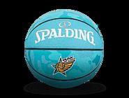 【这就是灌篮第二季同款】斯伯丁这就是灌篮2蓝色迷彩PU篮球76-643Y