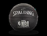 斯伯丁AGC系列室内室外黑色7号PU篮球76-650