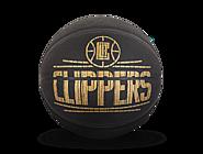 斯伯丁NBA快船队徽HARDWOODS系列室内室外7号PU篮球76-653Y