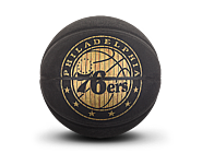 斯伯丁NBA 76人队徽HARDWOODS系列室内室外7号PU篮球76-603Y