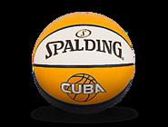斯伯丁CUBA入门系列白橘蓝PU篮球76-633