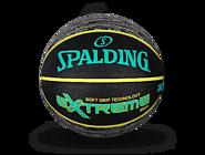 SPALDING官方旗舰店Extreme印花系列超软发泡室外橡胶篮球83-499Y