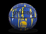 斯伯丁NBA勇士队徽大理石印花7号室外橡胶篮球84-100Y