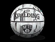 斯伯丁NBA篮网队徽大理石印花7号室外橡胶篮球84-126Y